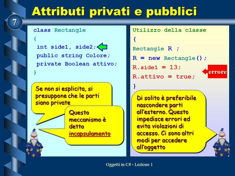 Attributi privati e pubblici