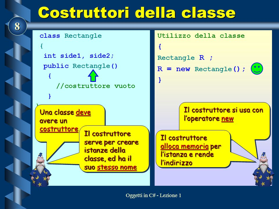 Costruttori della classe