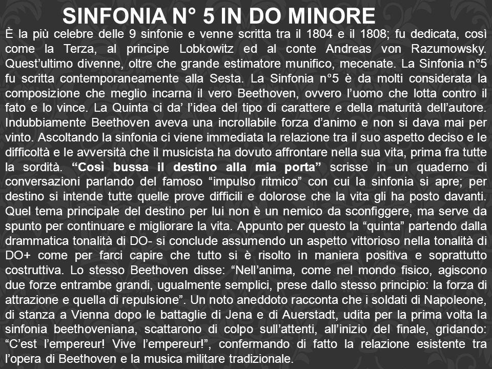 SINFONIA N° 5 IN DO MINORE