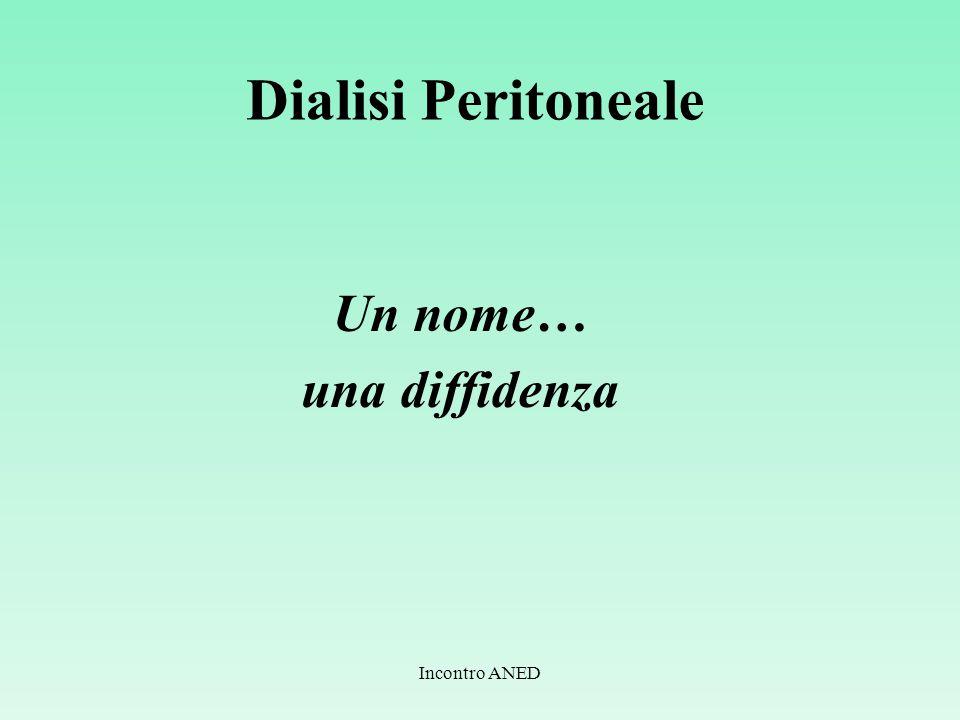 Dialisi Peritoneale Un nome… una diffidenza Incontro ANED