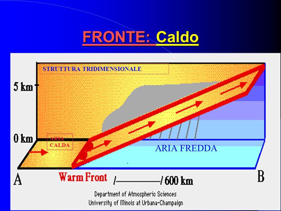 FRONTE: Caldo STRUTTURA TRIDIMENSIONALE ARIA CALDA ARIA FREDDA