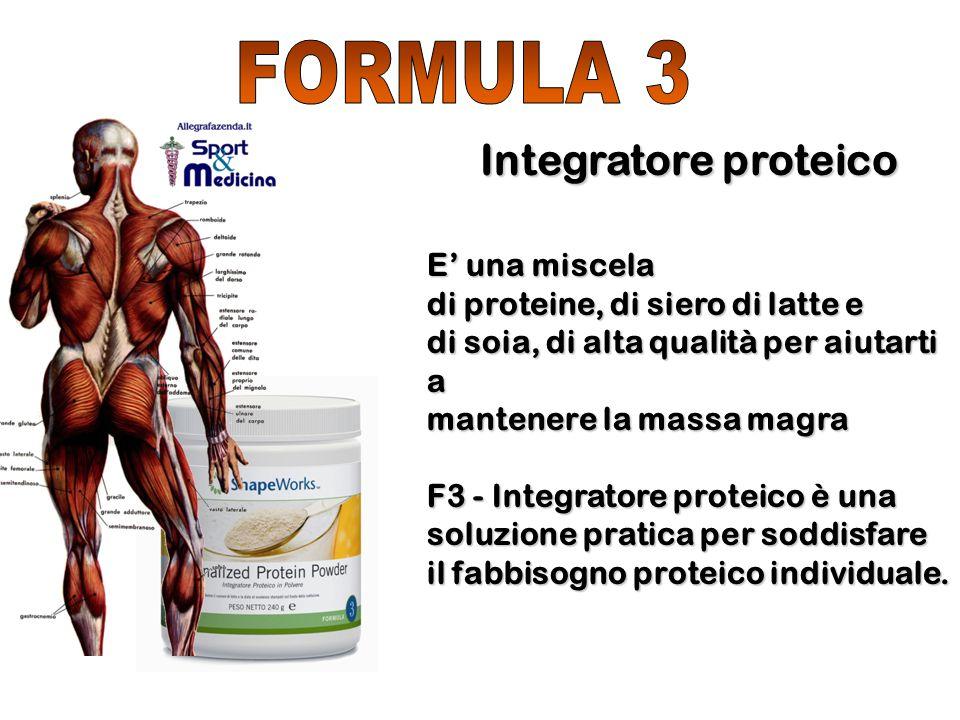 FORMULA 3 Integratore proteico E' una miscela