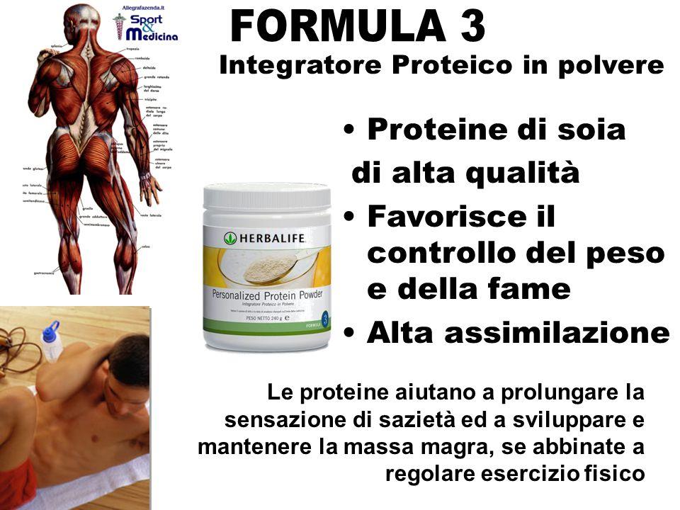 FORMULA 3 Proteine di soia di alta qualità