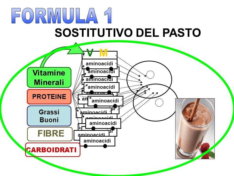FORMULA 1 SOSTITUTIVO DEL PASTO M V FIBRE Vitamine Minerali PROTEINE