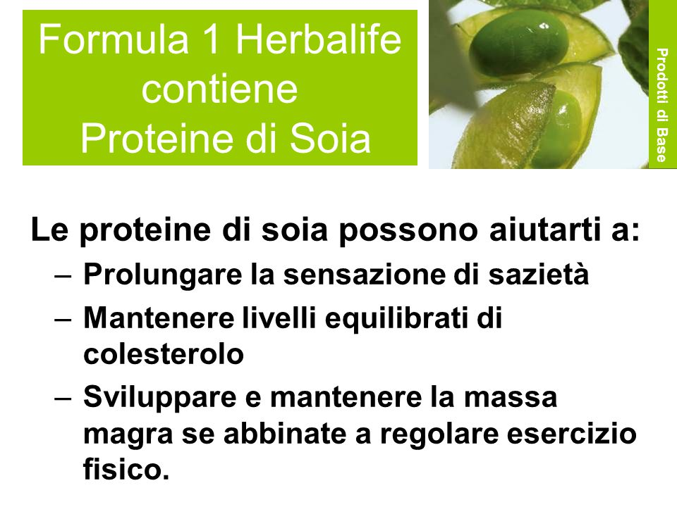 Formula 1 Herbalife contiene Proteine di Soia