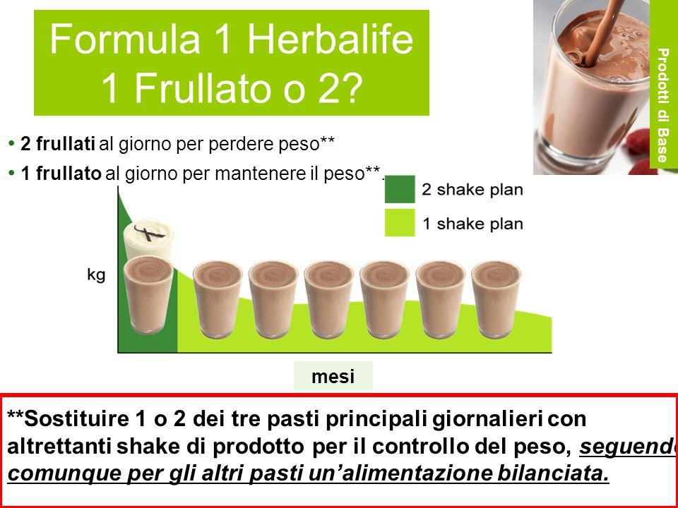Formula 1 Herbalife 1 Frullato o 2