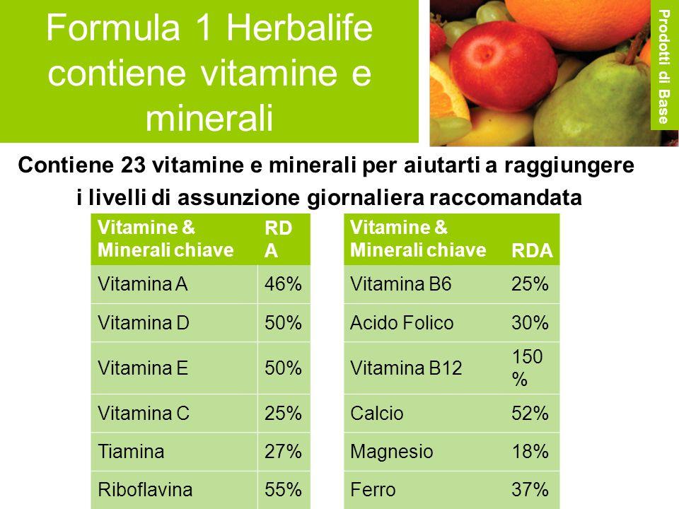 Formula 1 Herbalife contiene vitamine e minerali