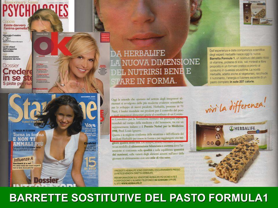 BARRETTE SOSTITUTIVE DEL PASTO FORMULA1
