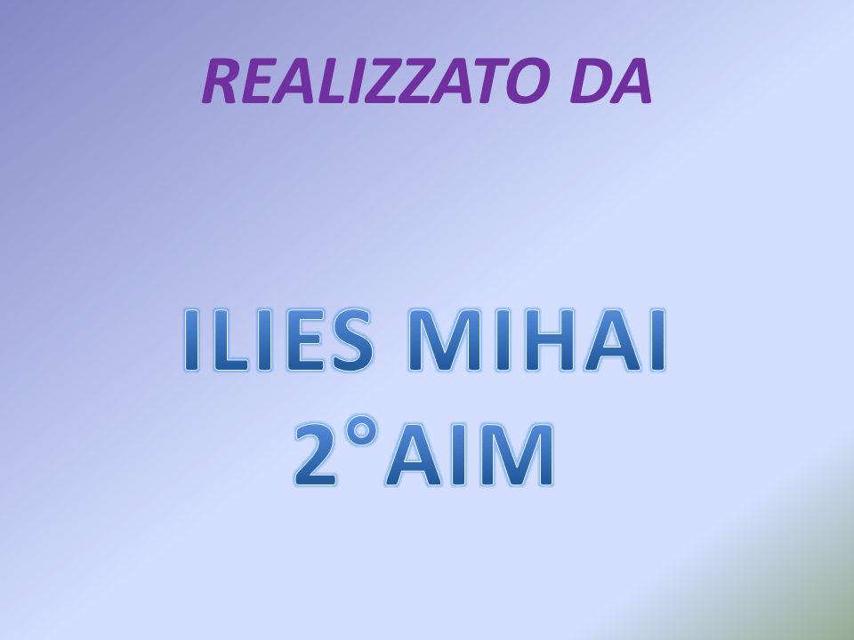 REALIZZATO DA ILIES MIHAI 2°AIM