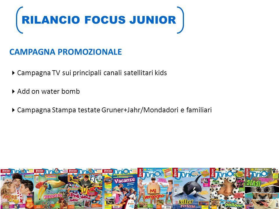 RILANCIO FOCUS JUNIOR CAMPAGNA PROMOZIONALE