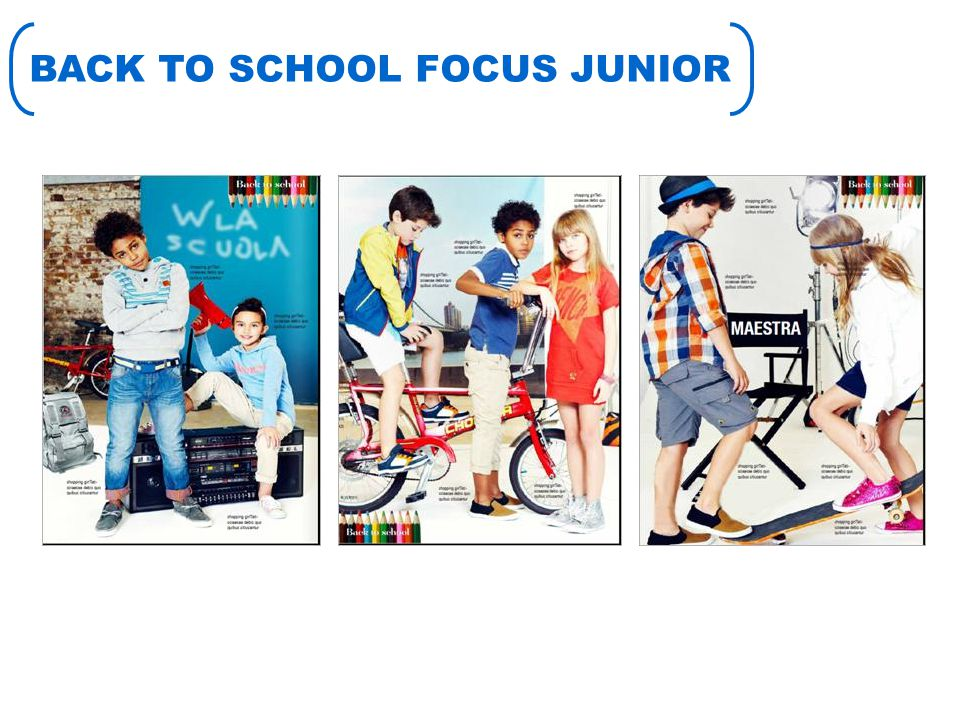 BACK TO SCHOOL FOCUS JUNIOR