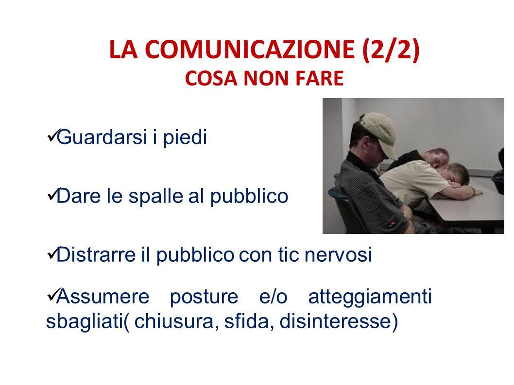 LA COMUNICAZIONE (2/2) COSA NON FARE