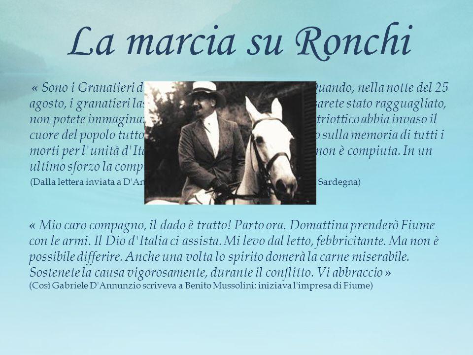 La marcia su Ronchi