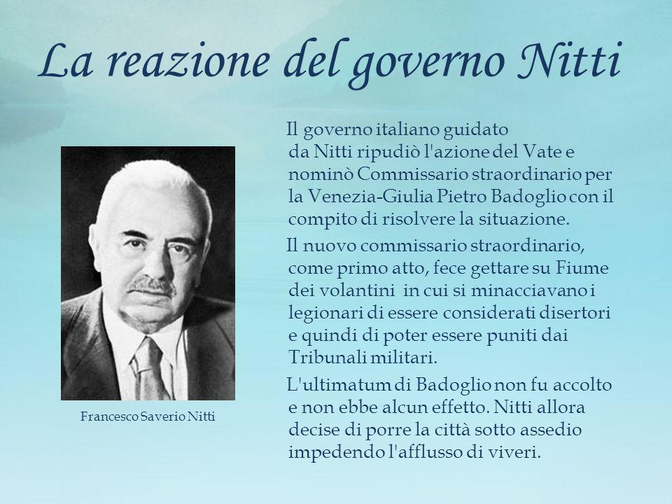 La reazione del governo Nitti