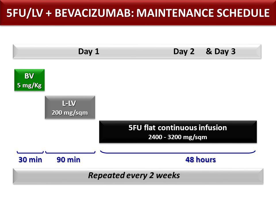 5FU/LV + BEVACIZUMAB: MAINTENANCE SCHEDULE