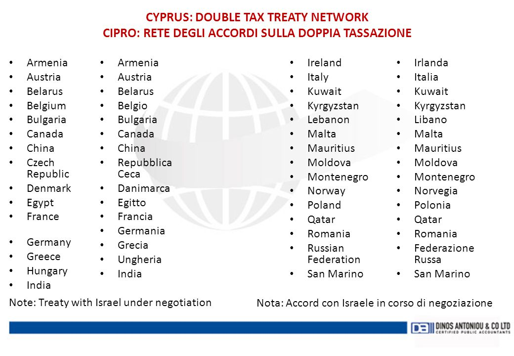 CYPRUS: DOUBLE TAX TREATY NETWORK