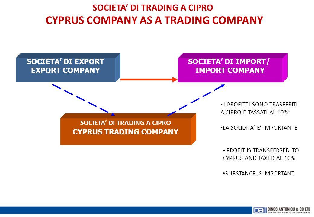 SOCIETA' DI TRADING A CIPRO CYPRUS COMPANY AS A TRADING COMPANY