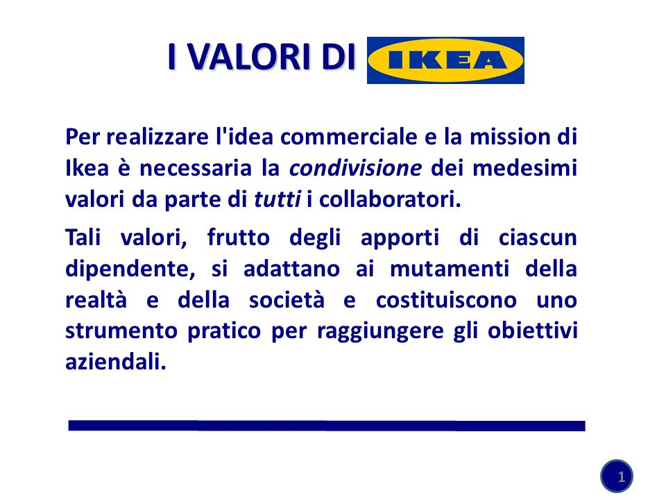 I VALORI DI IKEA