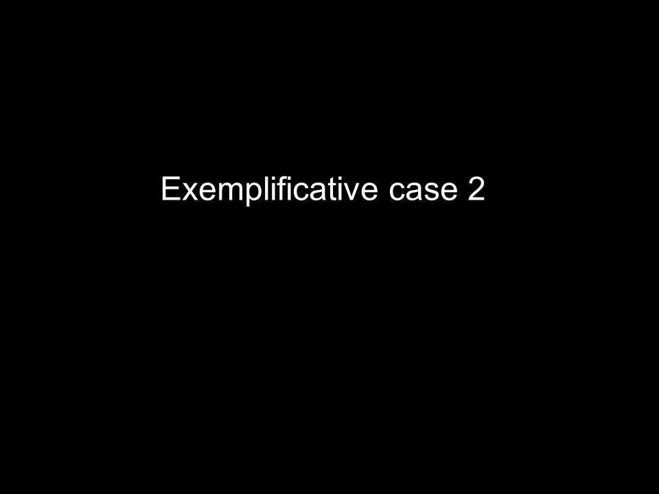 Exemplificative case 2
