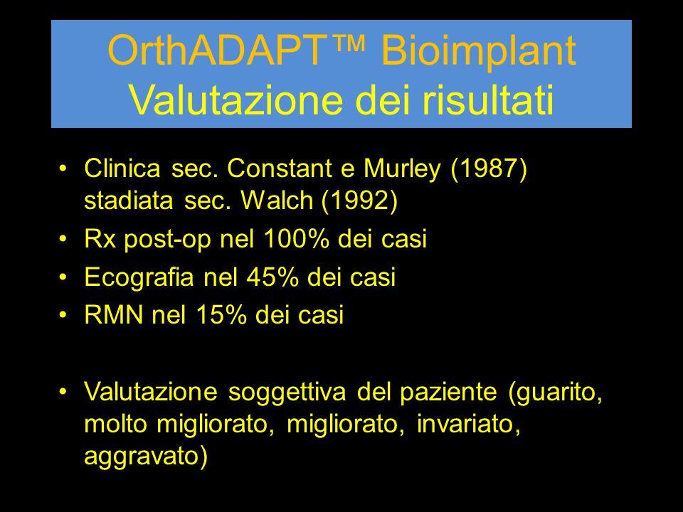 OrthADAPT™ Bioimplant Valutazione dei risultati