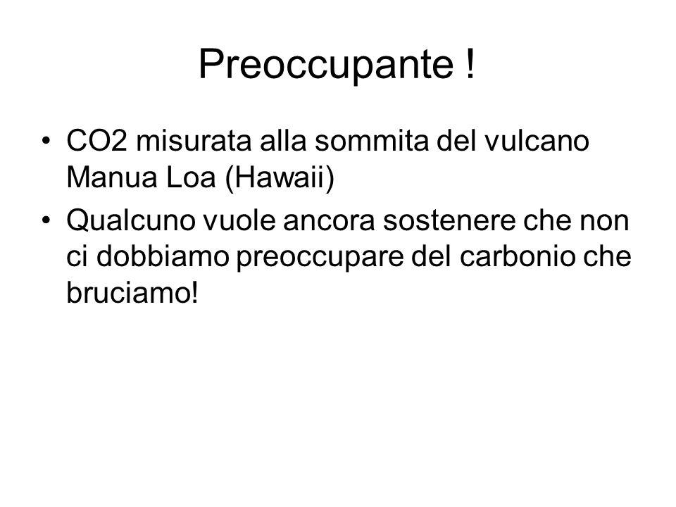 Preoccupante ! CO2 misurata alla sommita del vulcano Manua Loa (Hawaii)