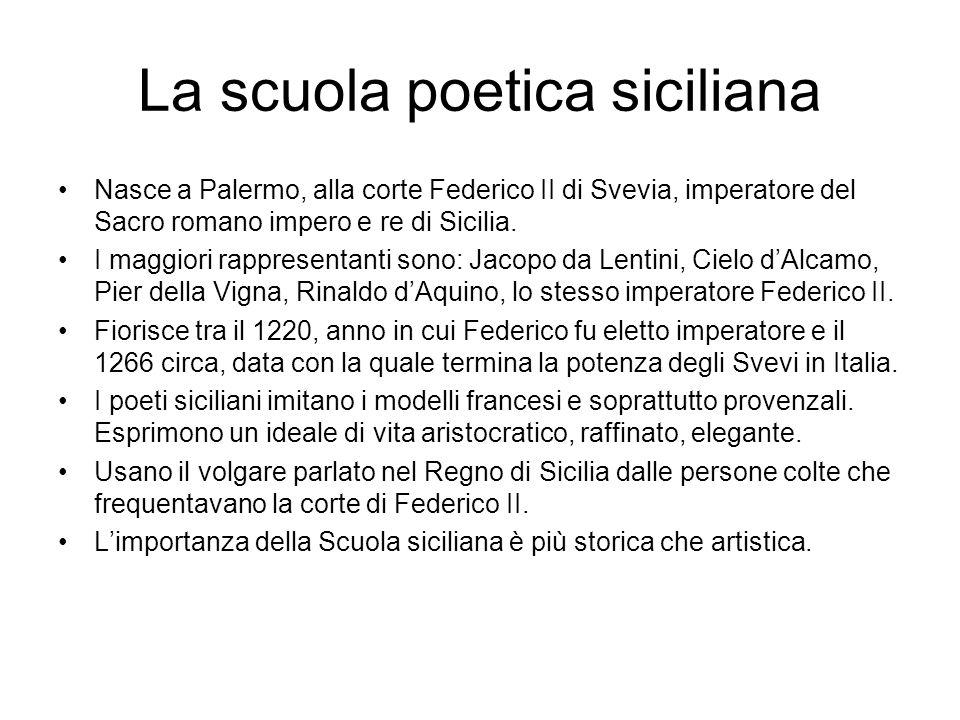 La scuola poetica siciliana