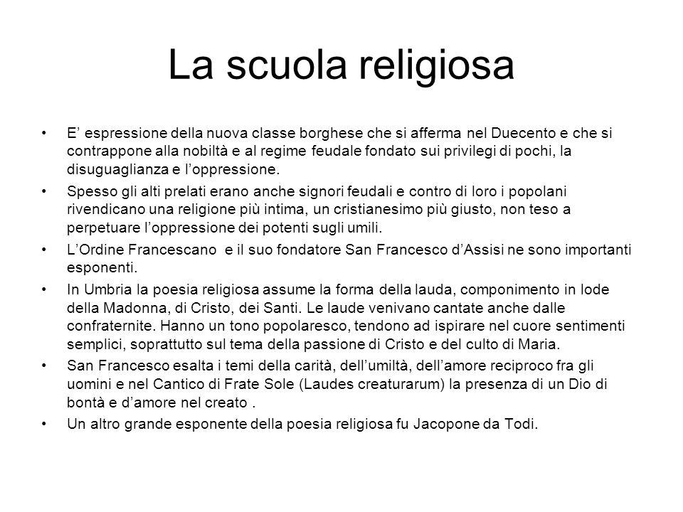 La scuola religiosa
