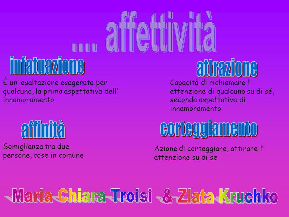 .... affettività infatuazione attrazione affinità corteggiamento
