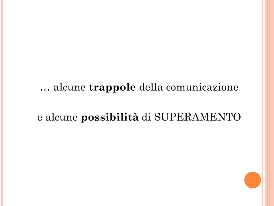 … alcune trappole della comunicazione
