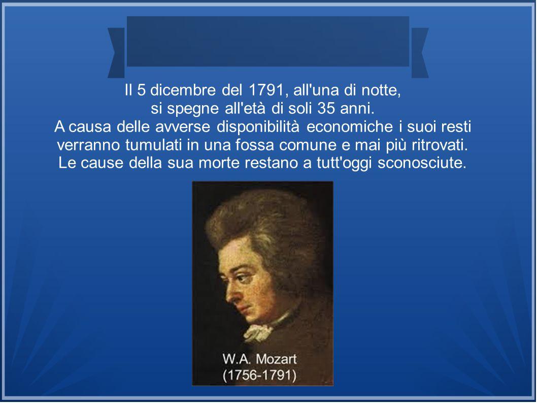 Il 5 dicembre del 1791, all una di notte,