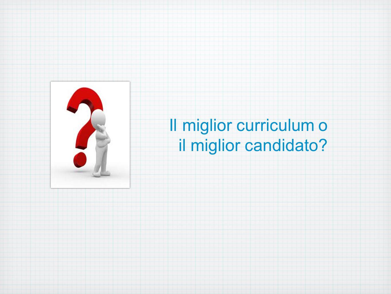 Il miglior curriculum o il miglior candidato