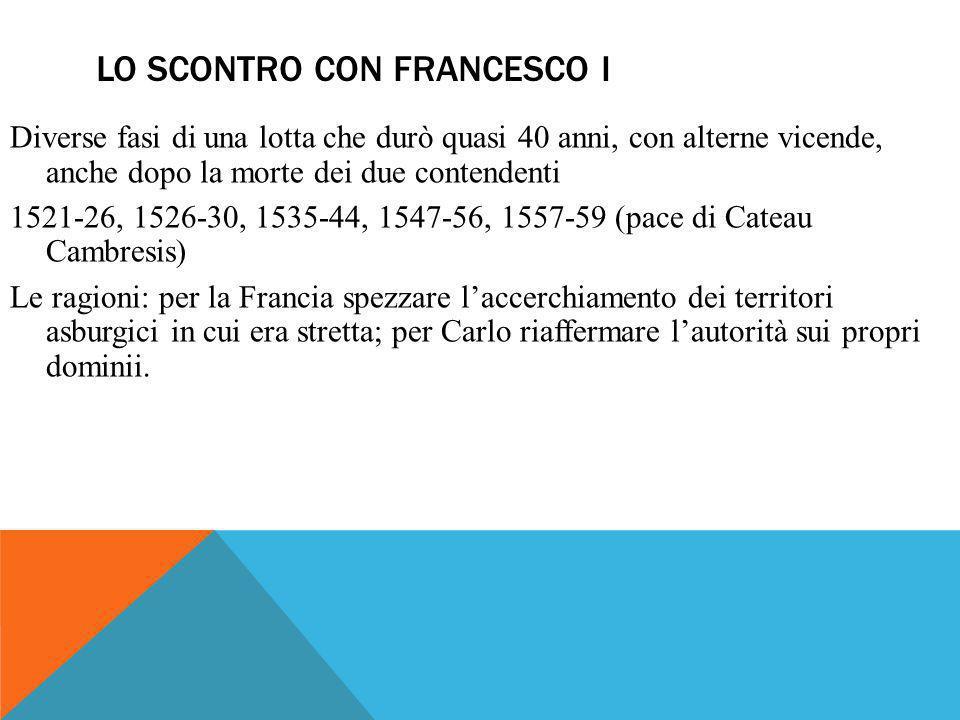 Lo scontro con Francesco I