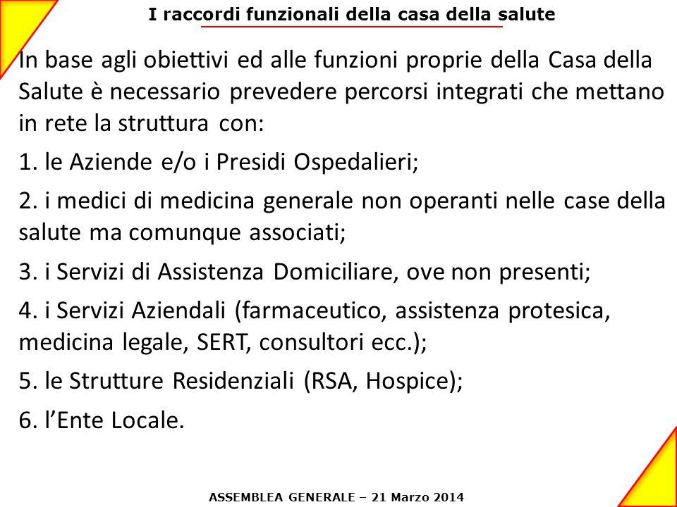 1. le Aziende e/o i Presidi Ospedalieri;