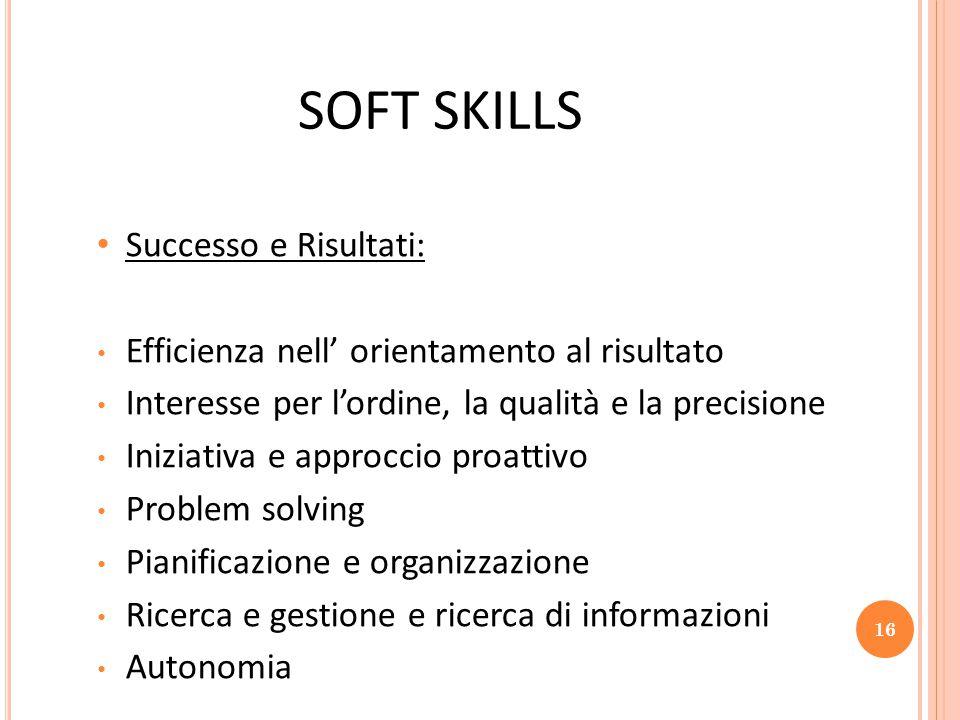 SOFT SKILLS Successo e Risultati: