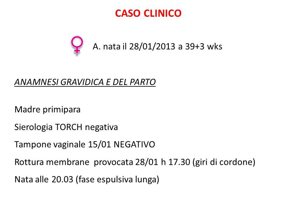 CASO CLINICO A. nata il 28/01/2013 a 39+3 wks