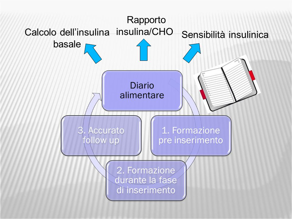Rapporto insulina/CHO Calcolo dell'insulina basale