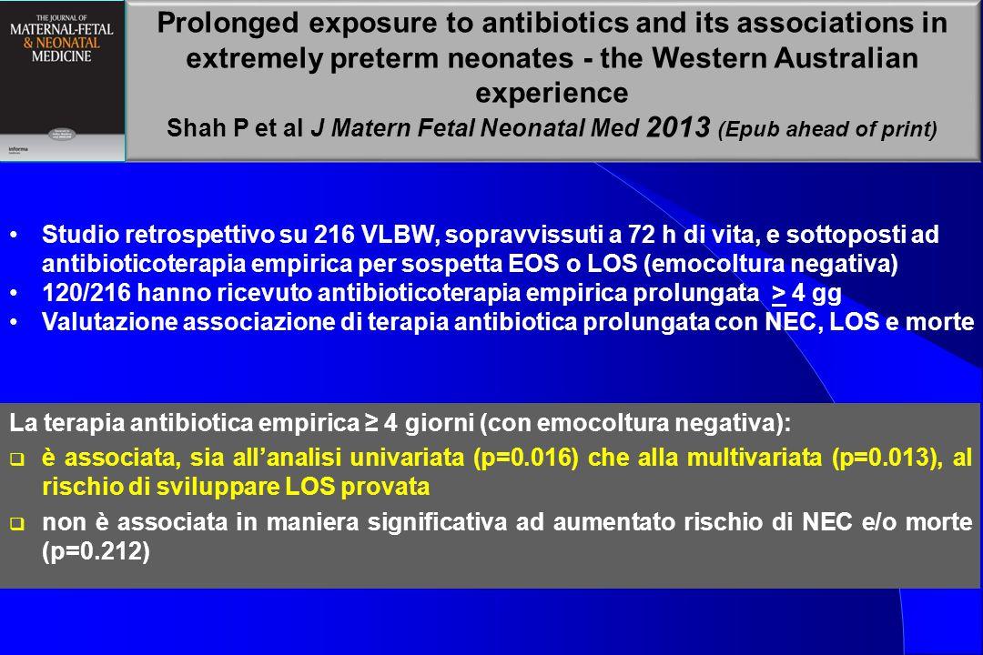 Shah P et al J Matern Fetal Neonatal Med 2013 (Epub ahead of print)