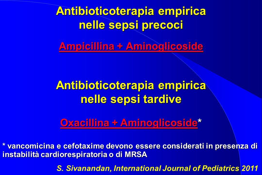Antibioticoterapia empirica nelle sepsi precoci