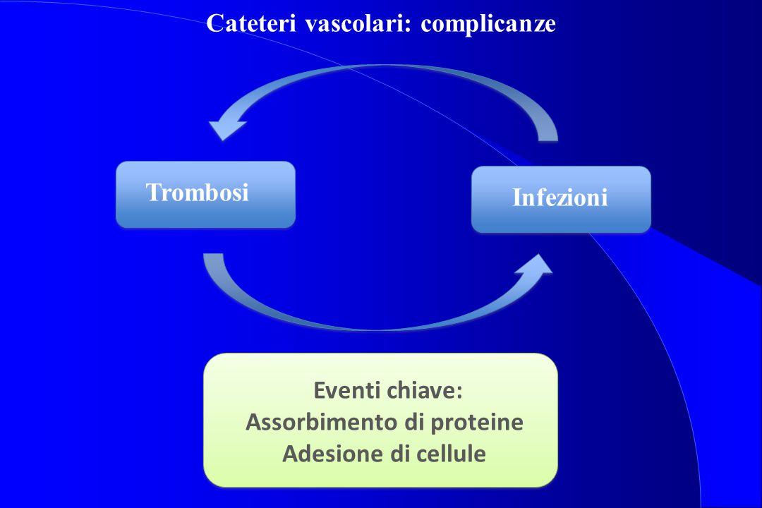 Cateteri vascolari: complicanze Assorbimento di proteine