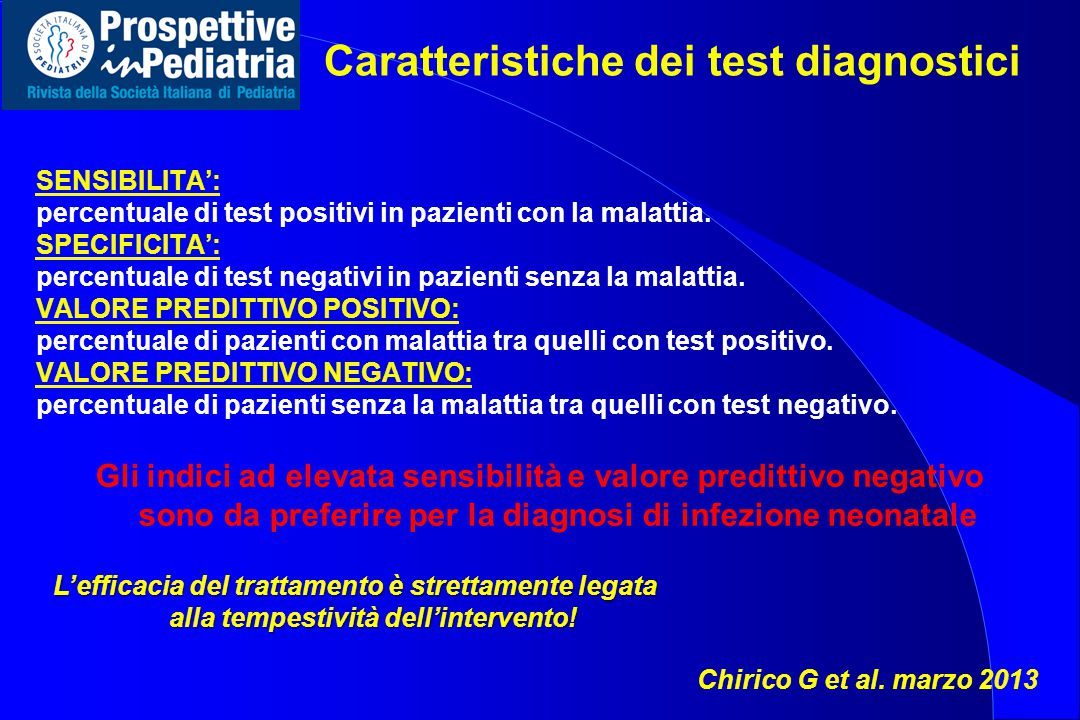 Caratteristiche dei test diagnostici