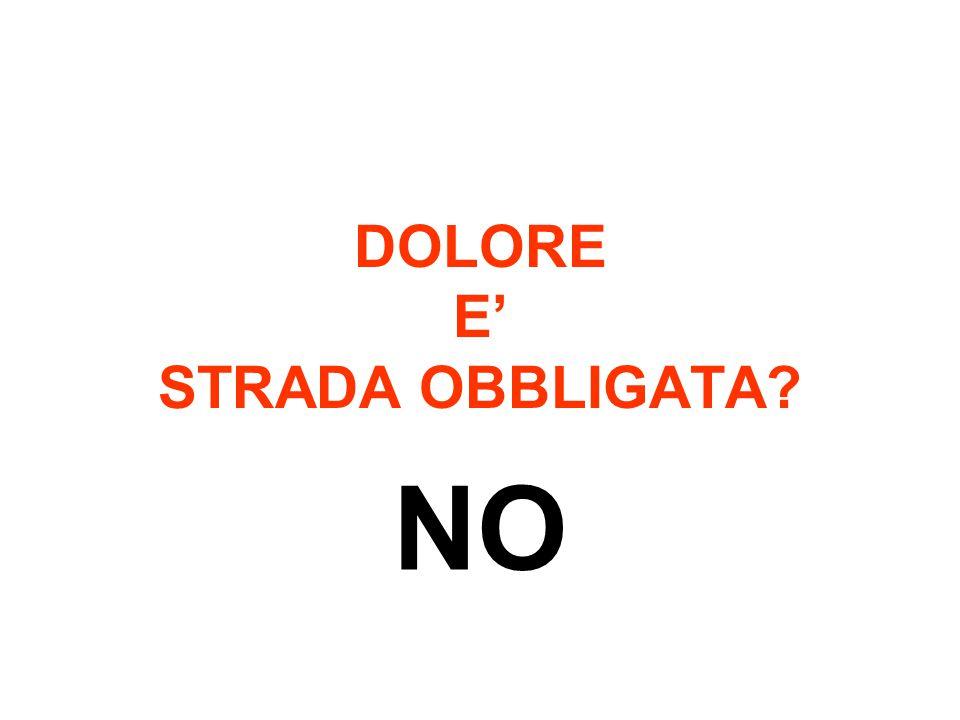 DOLORE E' STRADA OBBLIGATA