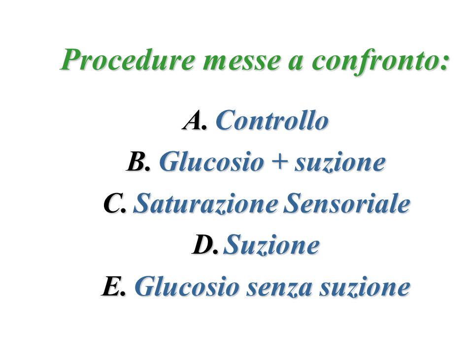 Procedure messe a confronto: