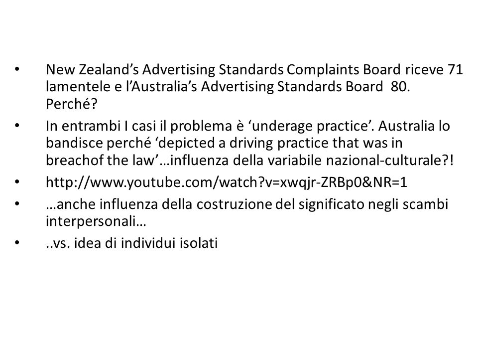 New Zealand's Advertising Standards Complaints Board riceve 71 lamentele e l'Australia's Advertising Standards Board 80. Perché