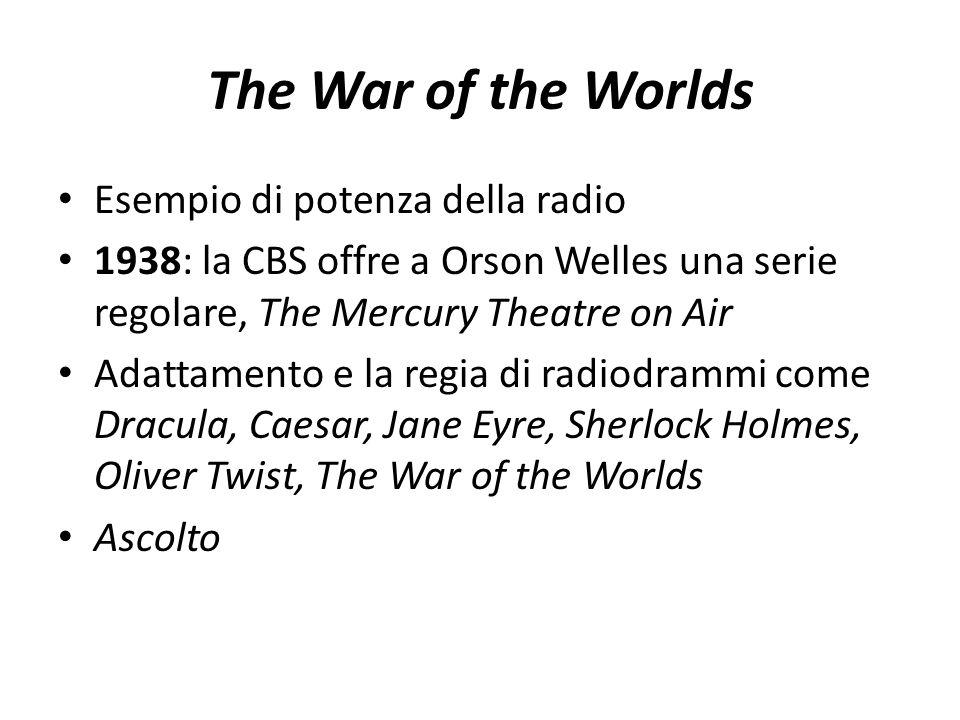 The War of the Worlds Esempio di potenza della radio