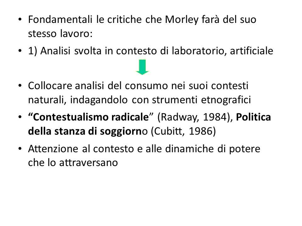 Fondamentali le critiche che Morley farà del suo stesso lavoro:
