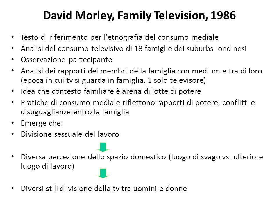 David Morley, Family Television, 1986