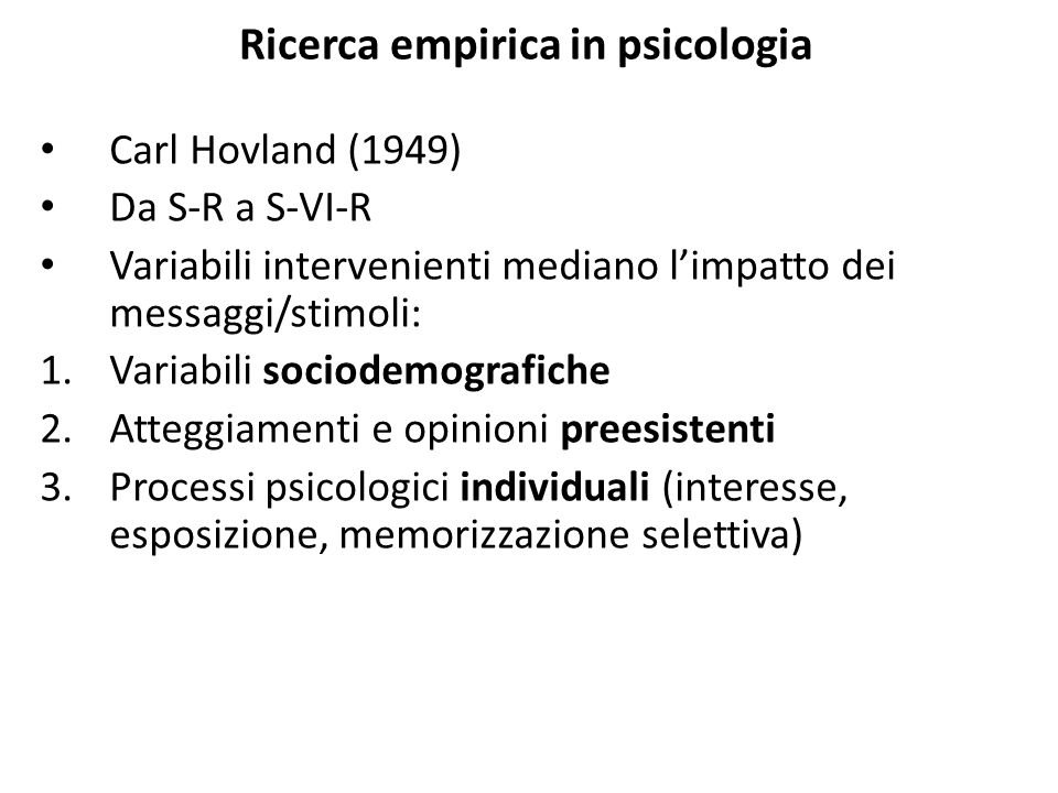 Ricerca empirica in psicologia