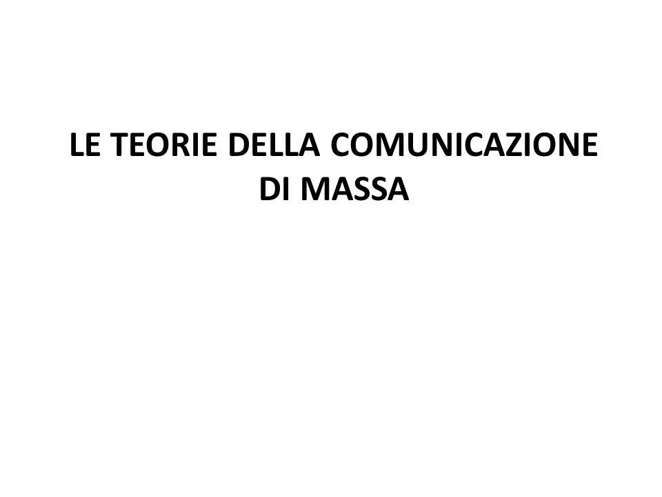 Le teorie della comunicazione di massa