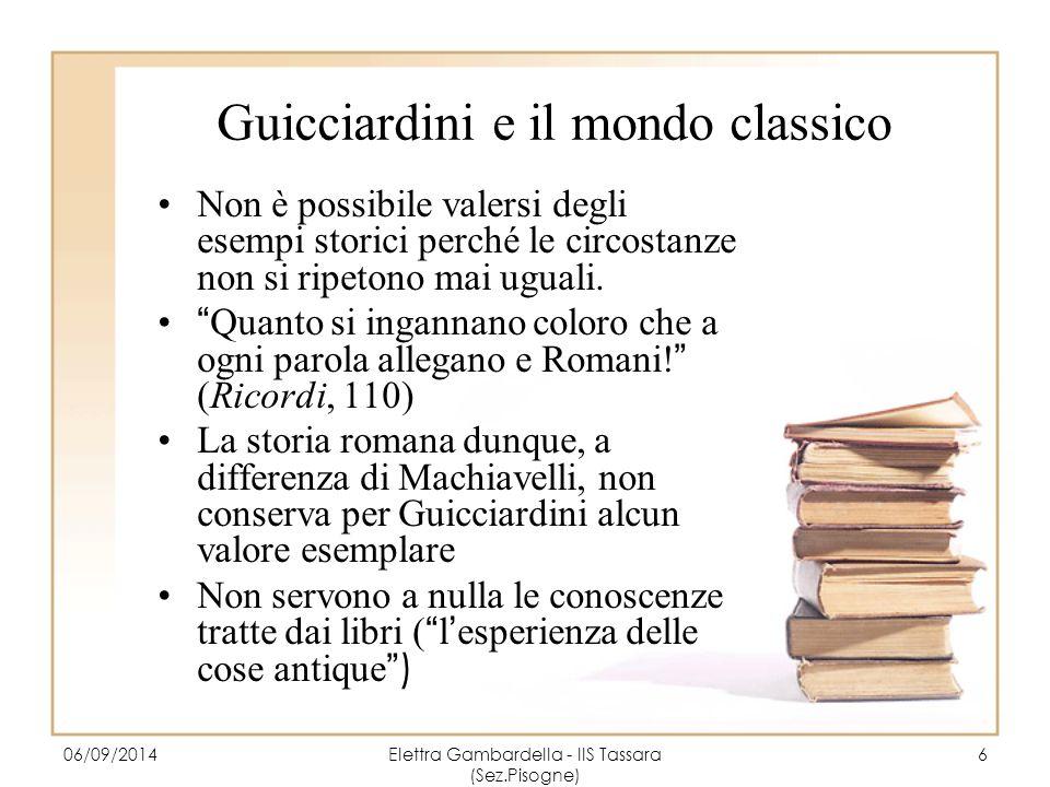 Guicciardini e il mondo classico