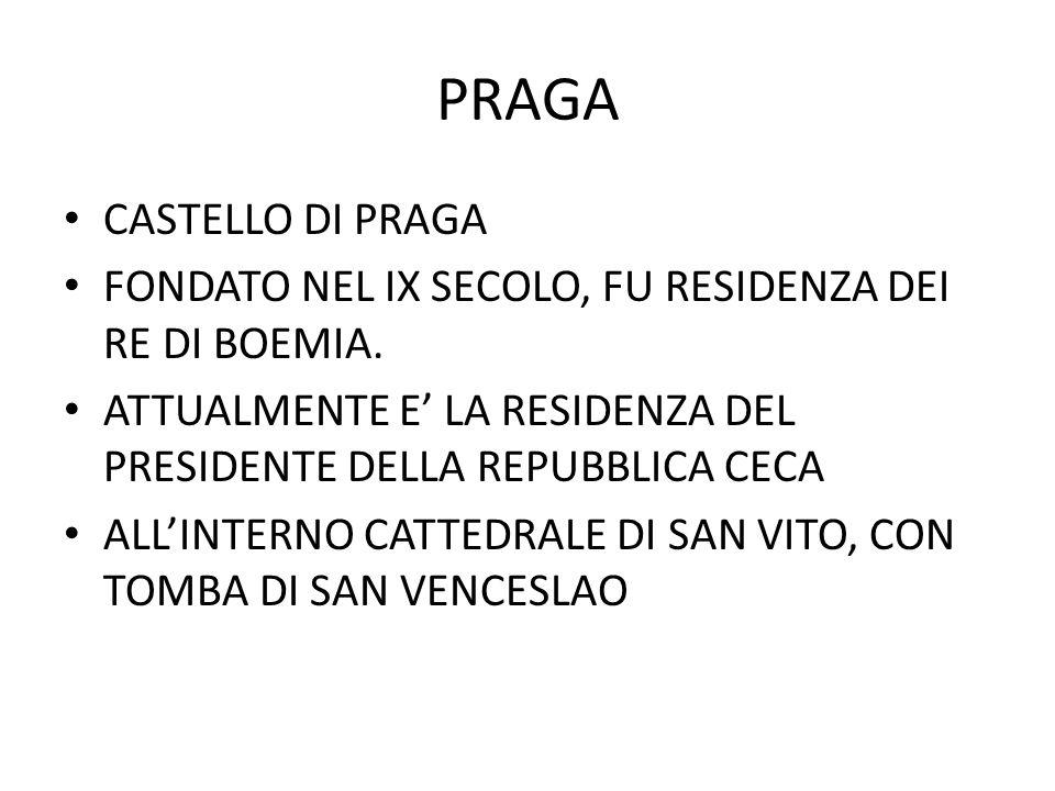 PRAGA CASTELLO DI PRAGA